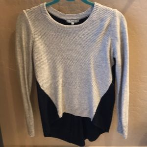 Madewell thin sweater with zipper back